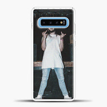 Load image into Gallery viewer, Post Malone Wearing White Clothes Samsung Galaxy S10 Case, White Plastic Case | casedilegna.com