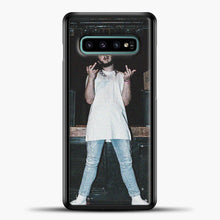 Load image into Gallery viewer, Post Malone Wearing White Clothes Samsung Galaxy S10e Case, Black Plastic Case | casedilegna.com