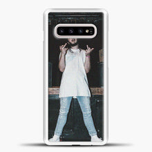 Load image into Gallery viewer, Post Malone Wearing White Clothes Samsung Galaxy S10e Case, White Plastic Case | casedilegna.com