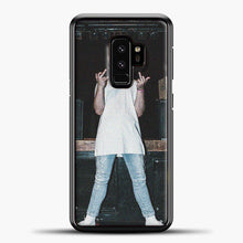 Load image into Gallery viewer, Post Malone Wearing White Clothes Samsung Galaxy S9 Case, Black Plastic Case | casedilegna.com