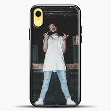 Load image into Gallery viewer, Post Malone Wearing White Clothes iPhone XR Case, Black Plastic Case | casedilegna.com