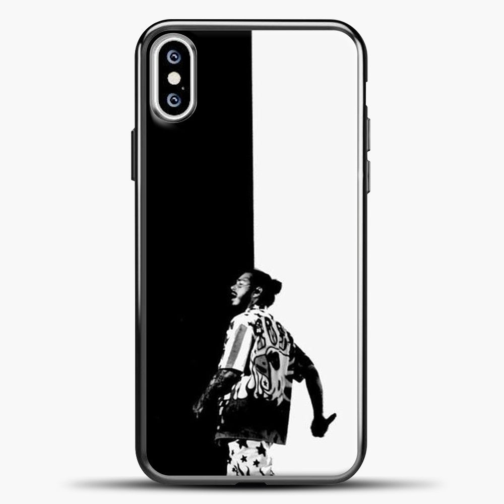 Post Malone White Black Background iPhone XS Case, Black Plastic Case | casedilegna.com