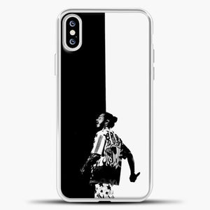 Post Malone White Black Background iPhone XS Case, White Plastic Case | casedilegna.com