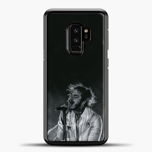 Post Malone White Smoke Samsung Galaxy S9 Case, Black Plastic Case | casedilegna.com