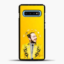 Load image into Gallery viewer, Post Malone Yellow Background Samsung Galaxy S10 Case, Black Plastic Case | casedilegna.com