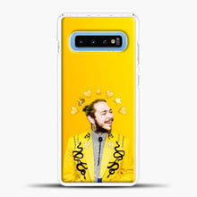 Load image into Gallery viewer, Post Malone Yellow Background Samsung Galaxy S10 Case, White Plastic Case | casedilegna.com