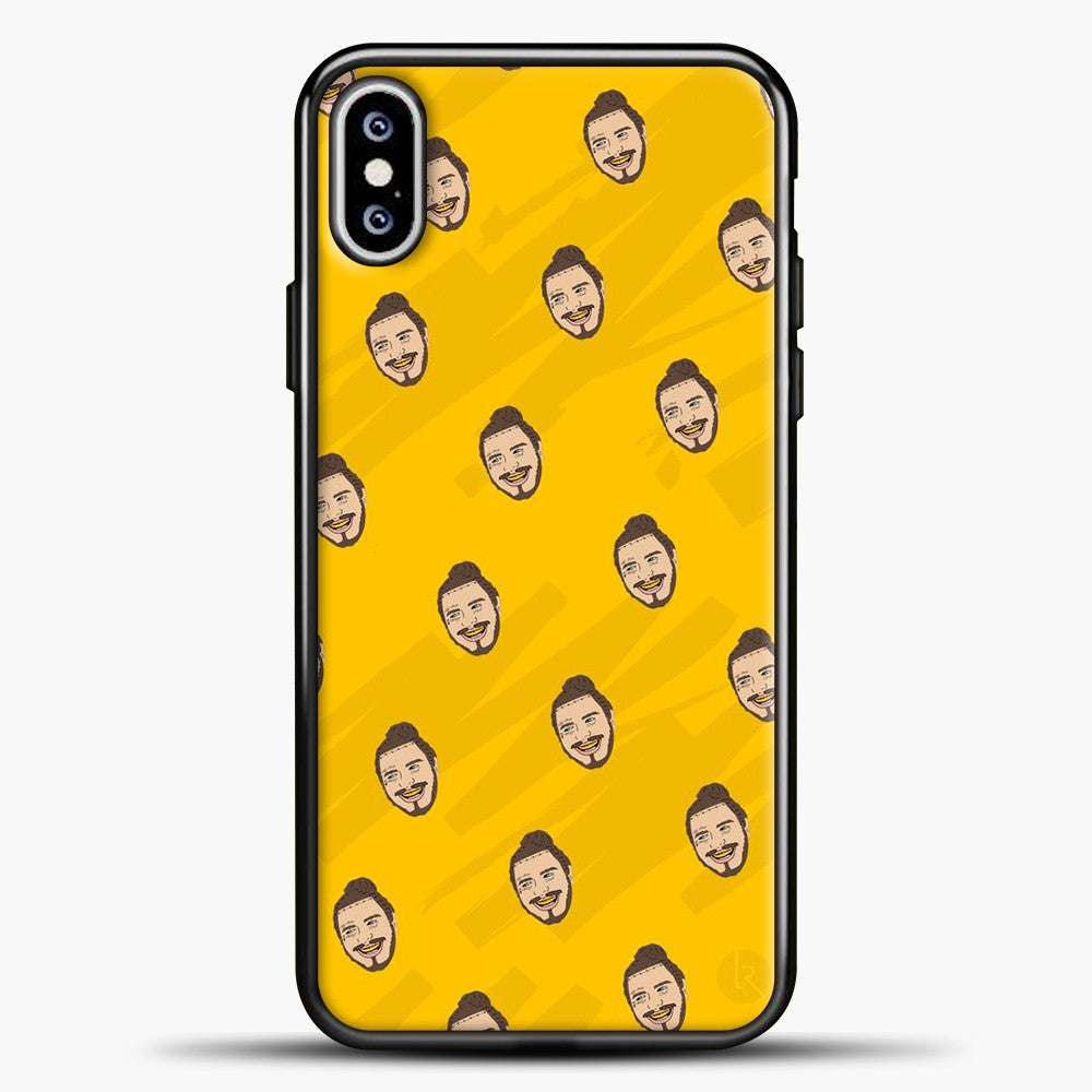 Post Malone Yellow Face Background iPhone XS Max Case, Black Plastic Case | casedilegna.com