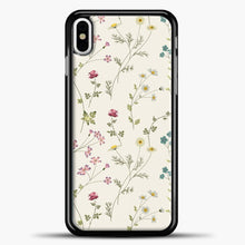 Load image into Gallery viewer, Pressed Flowers iPhone Case, Black Plastic Case | casedilegna.com