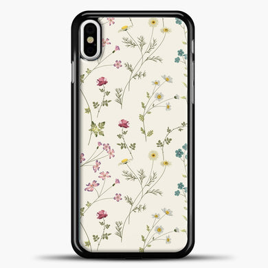Pressed Flowers iPhone Case, Black Plastic Case | casedilegna.com