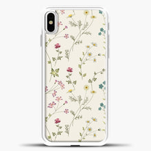 Load image into Gallery viewer, Pressed Flowers iPhone Case, White Plastic Case | casedilegna.com