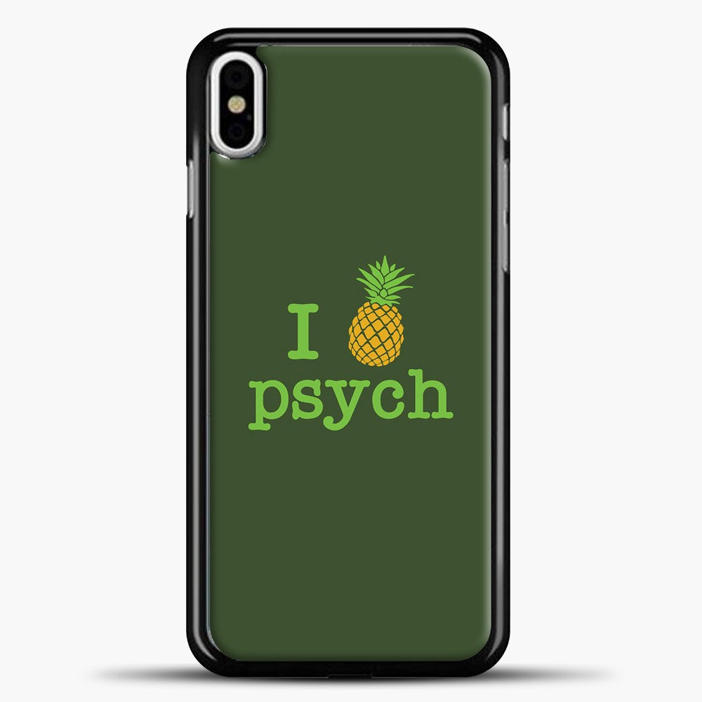 Psych Dark Green Background iPhone X Case, Black Plastic Case | casedilegna.com