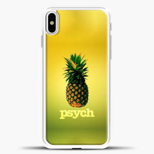 Psych Gradient Background iPhone X Case, White Plastic Case | casedilegna.com