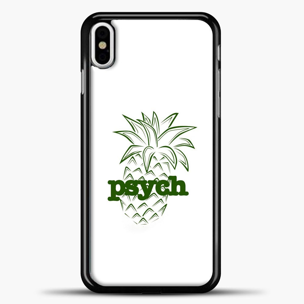 Psych White Background iPhone X Case, Black Plastic Case | casedilegna.com