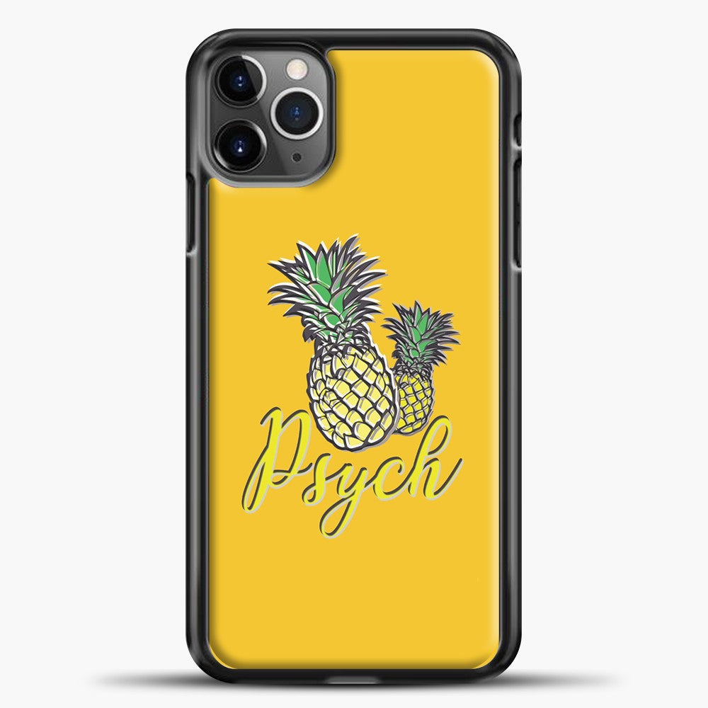 Psych Yellow Background iPhone 11 Pro Max Case, Black Plastic Case | casedilegna.com