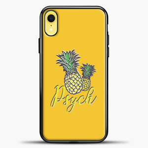 Psych Yellow Background iPhone XR Case, Black Plastic Case | casedilegna.com