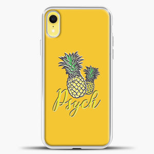 Psych Yellow Background iPhone XR Case, White Plastic Case | casedilegna.com