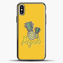 Load image into Gallery viewer, Psych Yellow Background iPhone XS Case, Black Plastic Case | casedilegna.com
