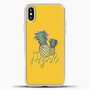 Psych Yellow Background iPhone XS Case, White Plastic Case | casedilegna.com