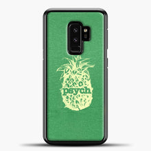 Load image into Gallery viewer, Psych Yellow Image Green Background Samsung Galaxy S9 Plus Case, Black Plastic Case | casedilegna.com