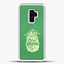Load image into Gallery viewer, Psych Yellow Image Green Background Samsung Galaxy S9 Plus Case, White Plastic Case | casedilegna.com