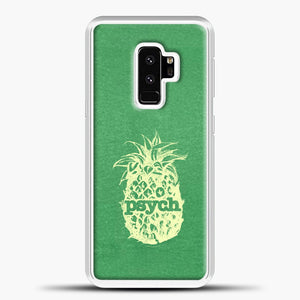 Psych Yellow Image Green Background Samsung Galaxy S9 Plus Case, White Plastic Case | casedilegna.com