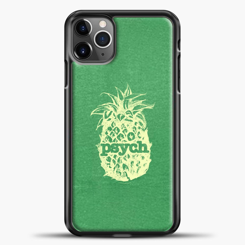 Psych Yellow Image Green Background iPhone 11 Pro Max Case, Black Plastic Case | casedilegna.com