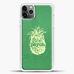 Psych Yellow Image Green Background iPhone 11 Pro Max Case, White Plastic Case | casedilegna.com