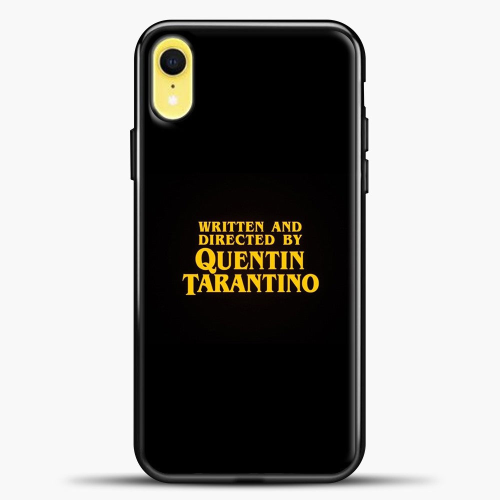 Quentin Tarantino Black Background iPhone XR Case, Black Plastic Case | casedilegna.com