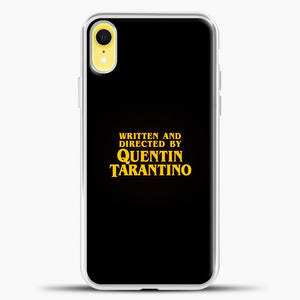 Quentin Tarantino Black Background iPhone XR Case, White Plastic Case | casedilegna.com