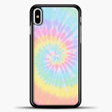 Rainbow Tie Dye iPhone Case, Black Plastic Case | casedilegna.com