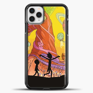 Rick And Morty Cute Happines iPhone 11 Pro Case, Black Plastic Case | casedilegna.com