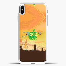 Load image into Gallery viewer, Rick And Morty Green Apple iPhone X Case, White Plastic Case | casedilegna.com