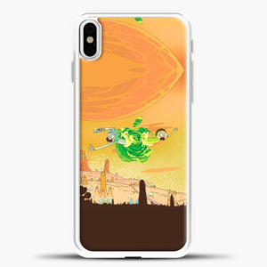 Rick And Morty Green Apple iPhone X Case, White Plastic Case | casedilegna.com