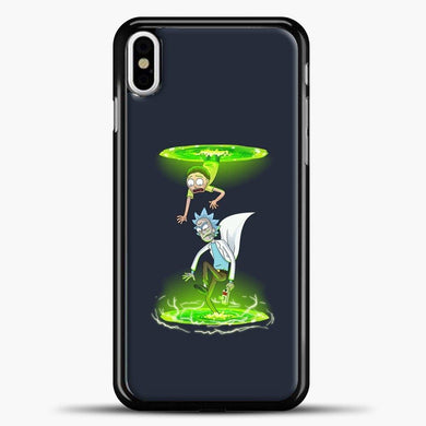 Rick And Morty Now You're Thinking With Rifts iPhone X Case, Black Plastic Case | casedilegna.com