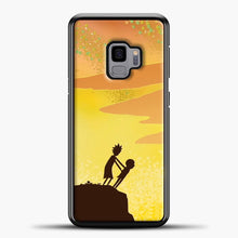 Load image into Gallery viewer, Rick And Morty Orange Skey Samsung Galaxy S9 Case, Black Plastic Case | casedilegna.com