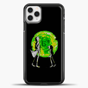 Rick And Morty Portal Black iPhone 11 Pro Case