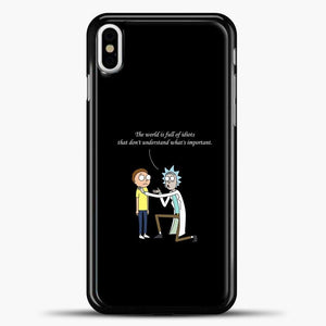 Rick And Morty Quotes iPhone X Case, Black Plastic Case | casedilegna.com