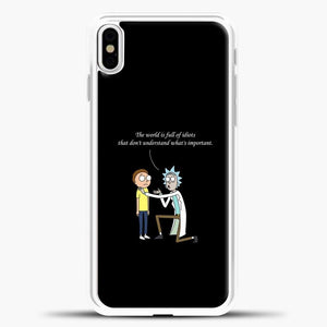 Rick And Morty Quotes iPhone X Case, White Plastic Case | casedilegna.com