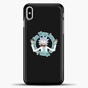 Rick And Morty Ricknmorty iPhone X Case, Black Plastic Case | casedilegna.com