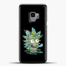 Load image into Gallery viewer, Rick And Morty Trippy Spaceship Samsung Galaxy S9 Case, Black Plastic Case | casedilegna.com
