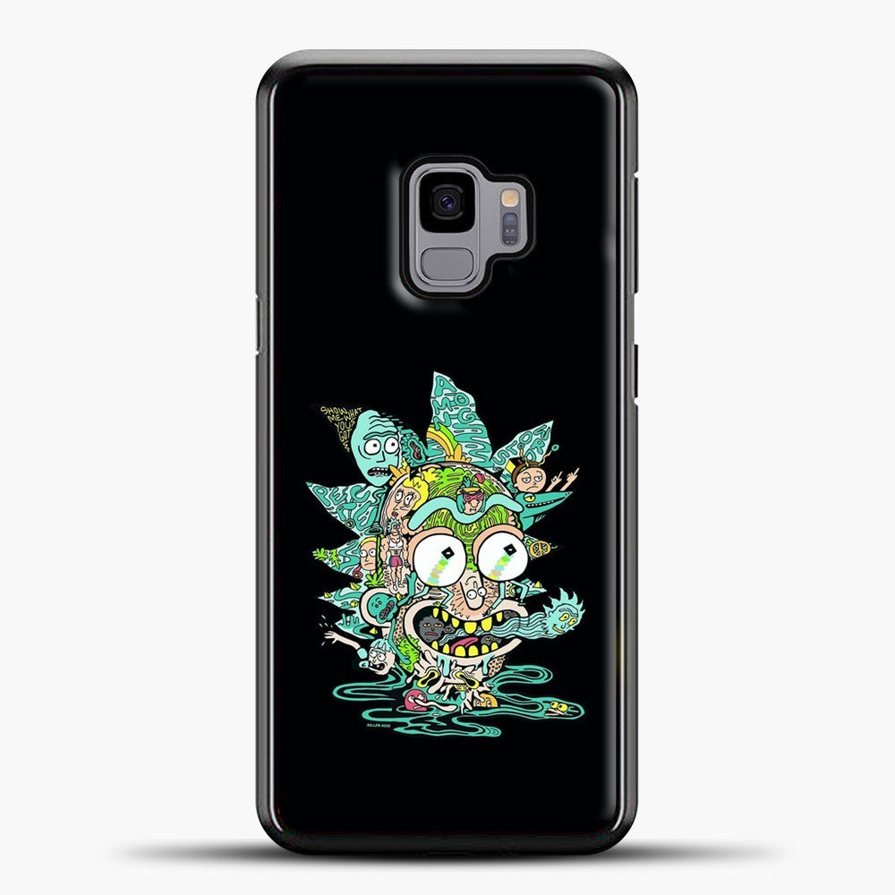 Rick And Morty Trippy Spaceship Samsung Galaxy S9 Case, Black Plastic Case | casedilegna.com