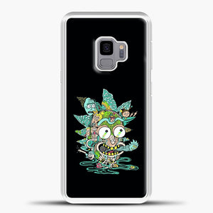 Rick And Morty Trippy Spaceship Samsung Galaxy S9 Case, White Plastic Case | casedilegna.com