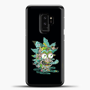 Rick And Morty Trippy Spaceship Samsung Galaxy S9 Plus Case, Black Plastic Case | casedilegna.com