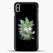 Load image into Gallery viewer, Rick And Morty Trippy Spaceship iPhone X Case, Black Plastic Case | casedilegna.com