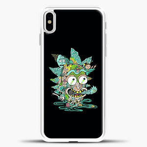 Rick And Morty Trippy Spaceship iPhone X Case, White Plastic Case | casedilegna.com
