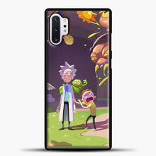 Load image into Gallery viewer, Rick Morty Afraid Samsung Galaxy Note 10 Plus Case, Black Plastic Case | casedilegna.com