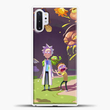 Load image into Gallery viewer, Rick Morty Afraid Samsung Galaxy Note 10 Plus Case, White Plastic Case | casedilegna.com