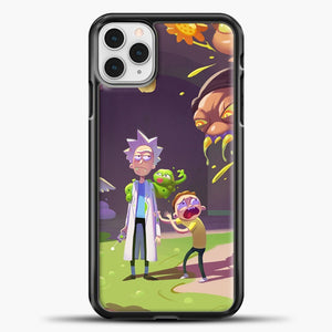 Rick Morty Afraid iPhone 11 Pro Case, Black Plastic Case | casedilegna.com