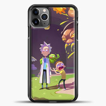 Load image into Gallery viewer, Rick Morty Afraid iPhone 11 Pro Max Case, Black Plastic Case | casedilegna.com