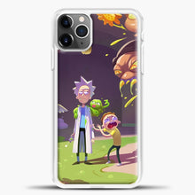 Load image into Gallery viewer, Rick Morty Afraid iPhone 11 Pro Max Case, White Plastic Case | casedilegna.com